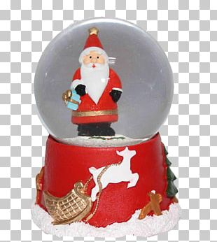 Santa Claus Christmas Ornament Crystal Ball PNG