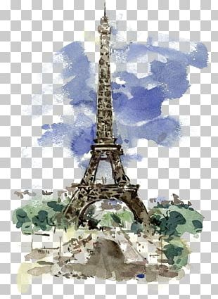 Eiffel Tower Watercolor Painting Work Of Art Illustration PNG