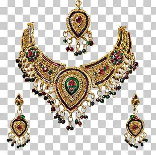 Necklace Earring Gold Jewellery Kundan PNG