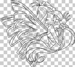 Flora Sirenix Coloring Book Drawing Tecna PNG