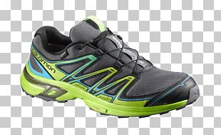 Shoe Salomon Group Sneakers Trail Running Hiking Boot PNG