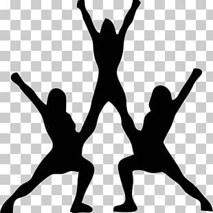 Cheerleading Silhouette Stunt PNG