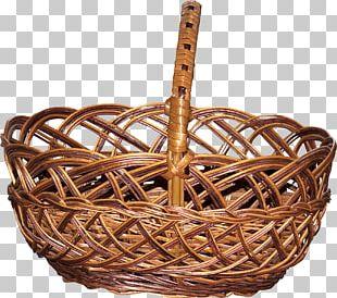 Basket Bamboe Wicker PNG