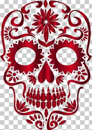 Calavera Skull Day Of The Dead Desktop PNG