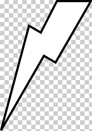 Lightning Bolt White PNG