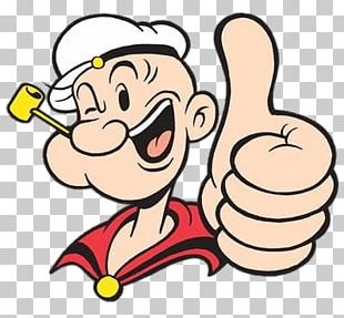 Popeye Thumb Up PNG
