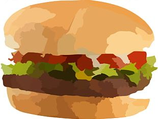 Hamburger French Fries Vegetarian Cuisine Chicken Sandwich Barbecue Grill PNG