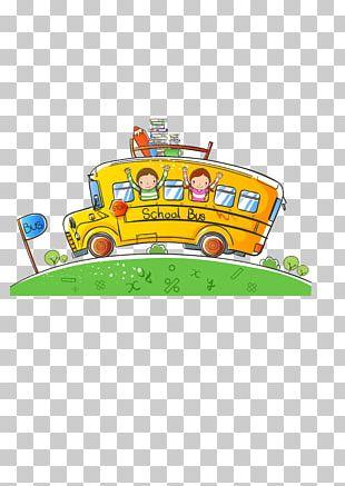 Cartoon School Bus PNG