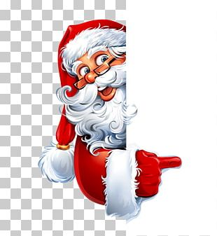 Santa Claus Christmas Cartoon Illustration PNG