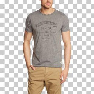 T-shirt Cotton Blue Yellow Beige PNG
