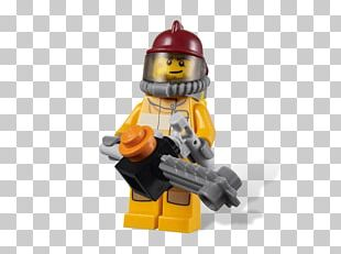 Lego City Undercover Firefighter Lego Minifigure Toy PNG