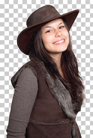 Woman With A Hat Cowboy Hat Fedora PNG