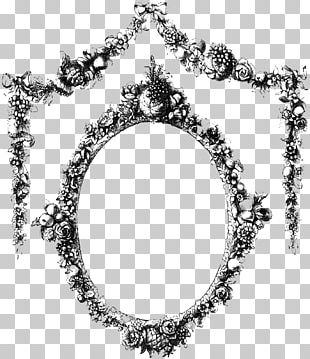 Vintage Frame With Flowers PNG