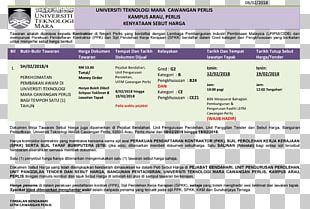 UiTM Perlis Web Page Information User Area PNG