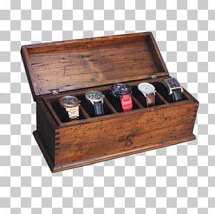 Box Drawer Wood Watch Display Case PNG