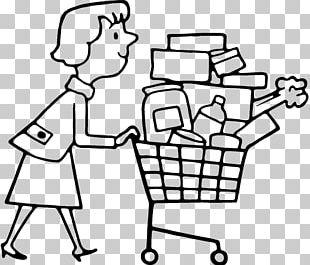 Shopping Cart Drawing Line Art PNG