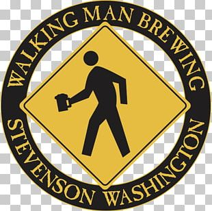 Walking Man Brewing Brewery Stout India Pale Ale Logo PNG