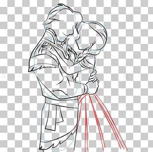Anna Elsa Homo Sapiens Line Art Sketch PNG