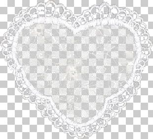 Place Mats Doily Heart PNG