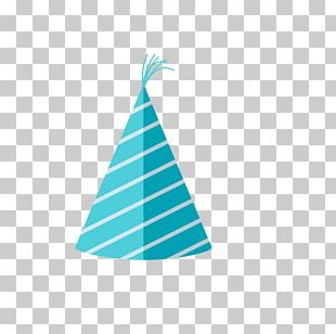 Party Hat Birthday Blue PNG