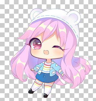 Chibi Anime Mangaka Drawing PNG
