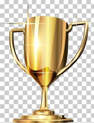 Trophy Gold Medal Award PNG