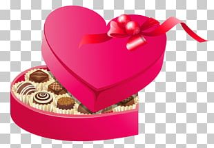 Valentine's Day Chocolate Box Art Heart PNG