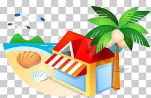 Sandy Beach Beach Hut PNG