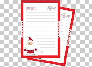 Santa Claus Paper Christmas Wish List Letter PNG