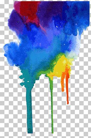 Watercolor Meets Drop PNG
