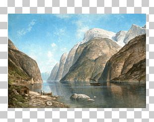 View Of A Fjord Norwegian Fjord Landscape Painter Landscape Painting PNG