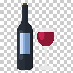 Red Wine Glass Bottle Wine Glass PNG
