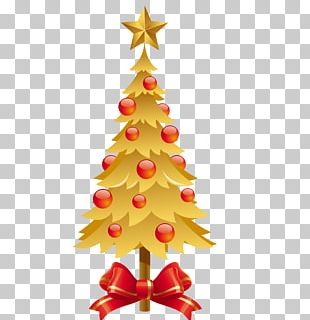 Christmas Tree New Year Santa Claus PNG