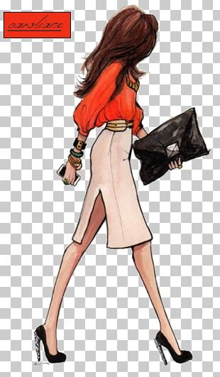 Drawing Fashion Illustration Female Sketch PNG