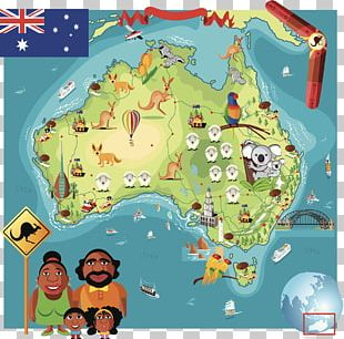 Australia Map Cartoon PNG