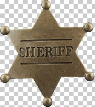 Badge Sheriff American Frontier PNG