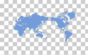 World Map Wall Decal Miller Cylindrical Projection PNG