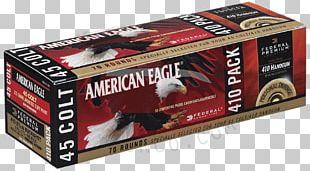 .45 Colt Federal Premium Ammunition Full Metal Jacket Bullet Pistol PNG