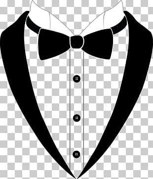 Bow Tie Tuxedo Suit Black Tie PNG