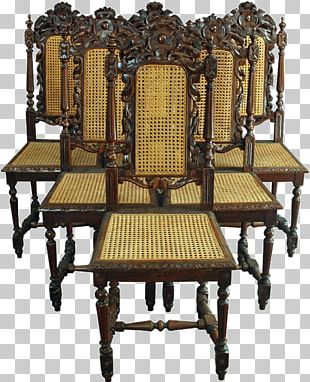 Table Dining Room Chair Furniture Antique PNG