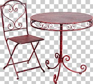 Table Garden Furniture Chair PNG