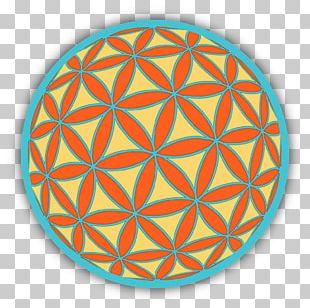 Mandala Sacred Geometry Bumper Sticker Overlapping Circles Grid PNG