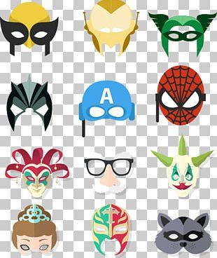 Iron Man Spider-Man Joker Mask PNG