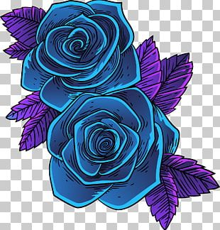 Blue Rose MTV Garden Roses Abziehtattoo PNG