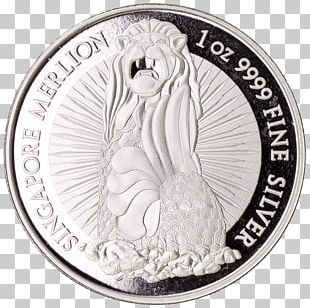 Silver Coin Silver Coin Merlion Metal PNG