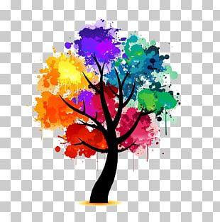 Watercolor Painting Art Tree PNG