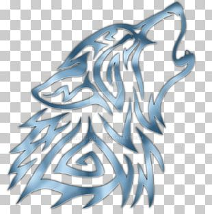 Gray Wolf Pack Drawing Tattoo PNG