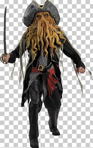 Davy Jones Jack Sparrow Captain Hook Piracy Costume PNG