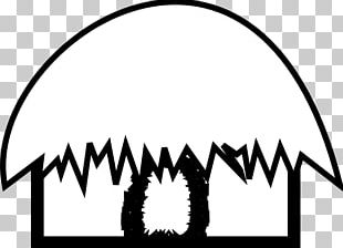 Hut Black And White PNG