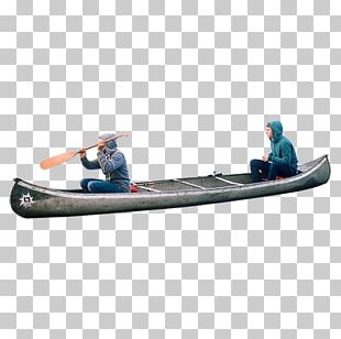 Two People On A Canoe PNG